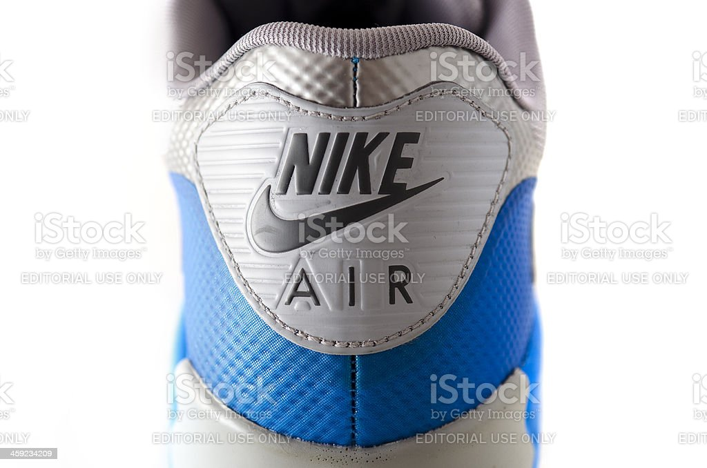 Close up of Nike Air logo on sports shoe royalty-free stock photo