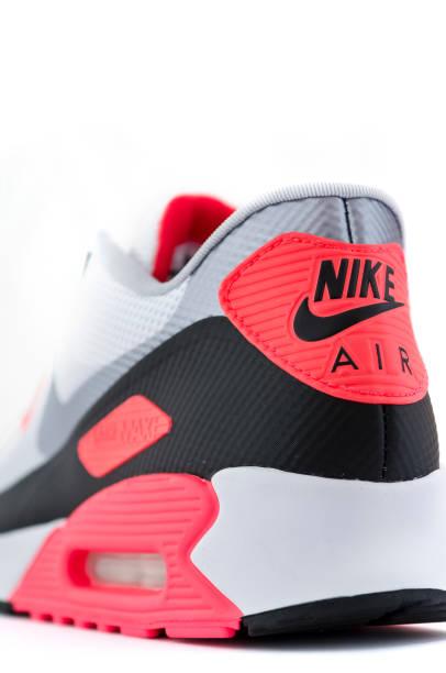 Nahaufnahme von Nike Air-logo auf trainer – Foto