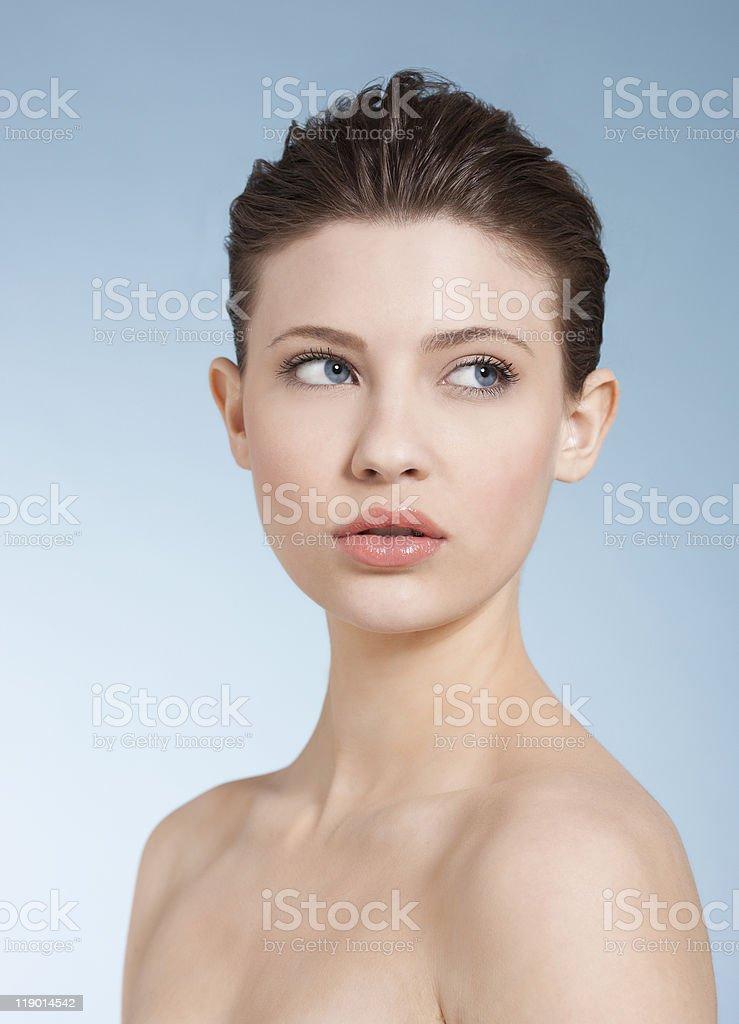 Primo Piano Del Viso Womans Nude - Fotografie Stock E Altre Immagini Di 16-17 Anni -6657