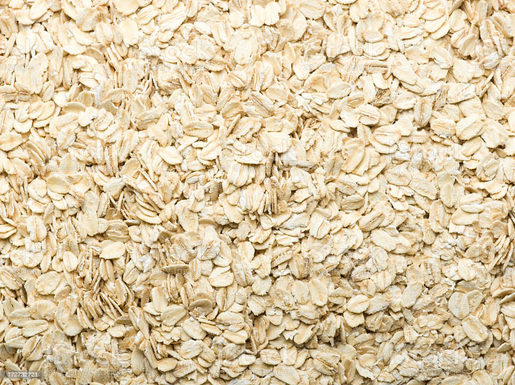 Close up of oat flakes forming a background royalty-free stock photo