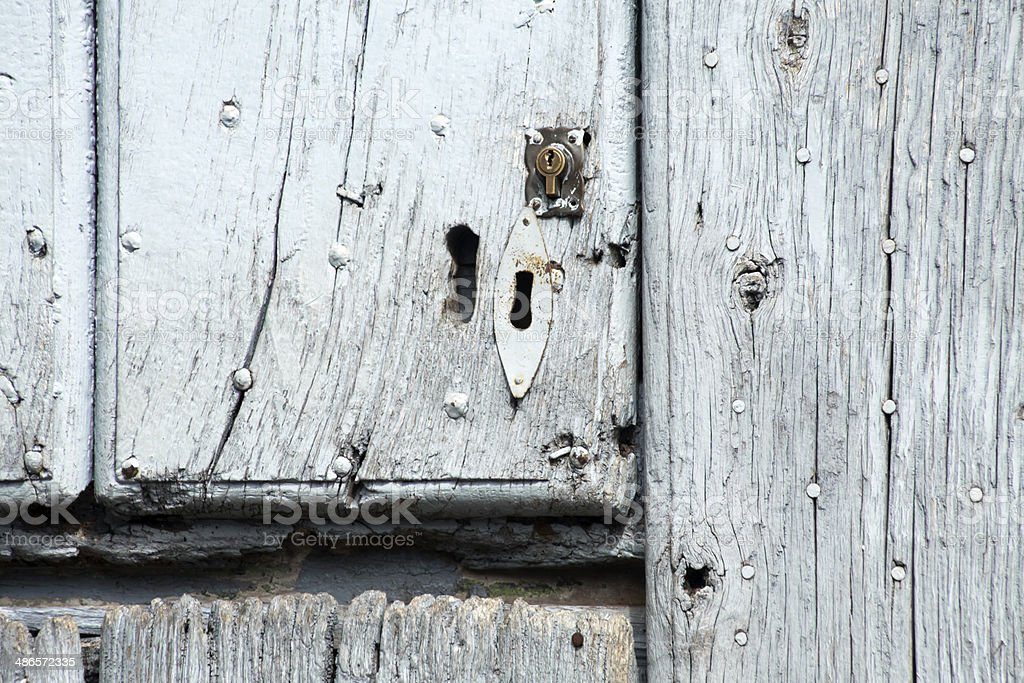 Close up of old door royalty-free stock photo