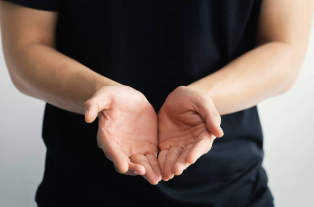 Close up of open hands. Holding, giving, showing concept. Close up of open hands. Holding, giving, showing concept. Selective focus hands cupped stock pictures, royalty-free photos & images