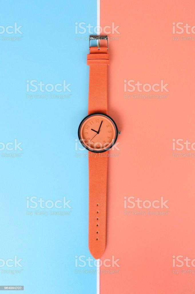 close up of orange wristwatches - Royalty-free Beauty Stock Photo