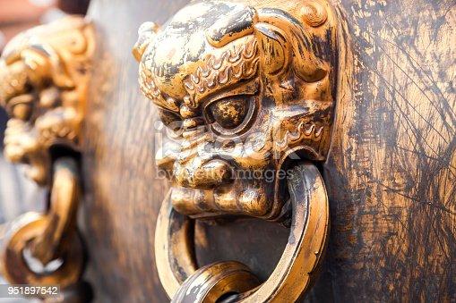 handle,forbidden city,beijing,china