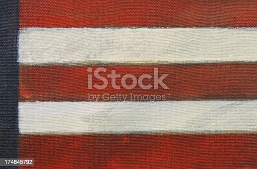 182764873istockphoto Close up of painted American flag 174845792