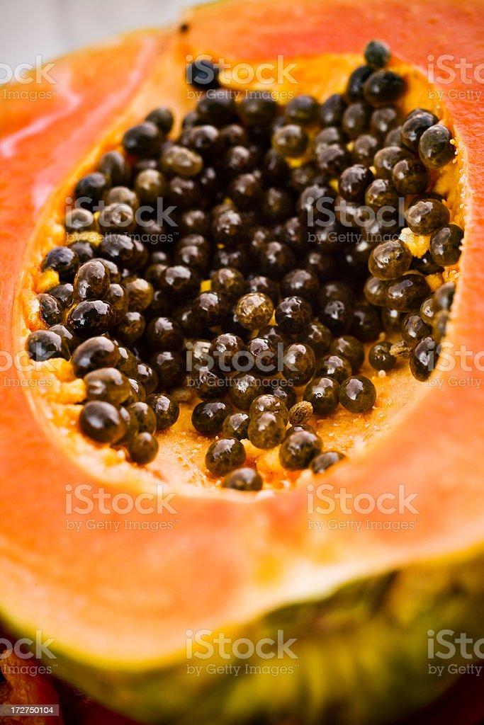close up of papaya royalty-free stock photo