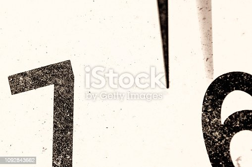 istock Close up of part of a vintage wall clock 1092843662