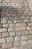 Close up of paving stones. Pathway to be used for backgrounds, textures , graphic editors