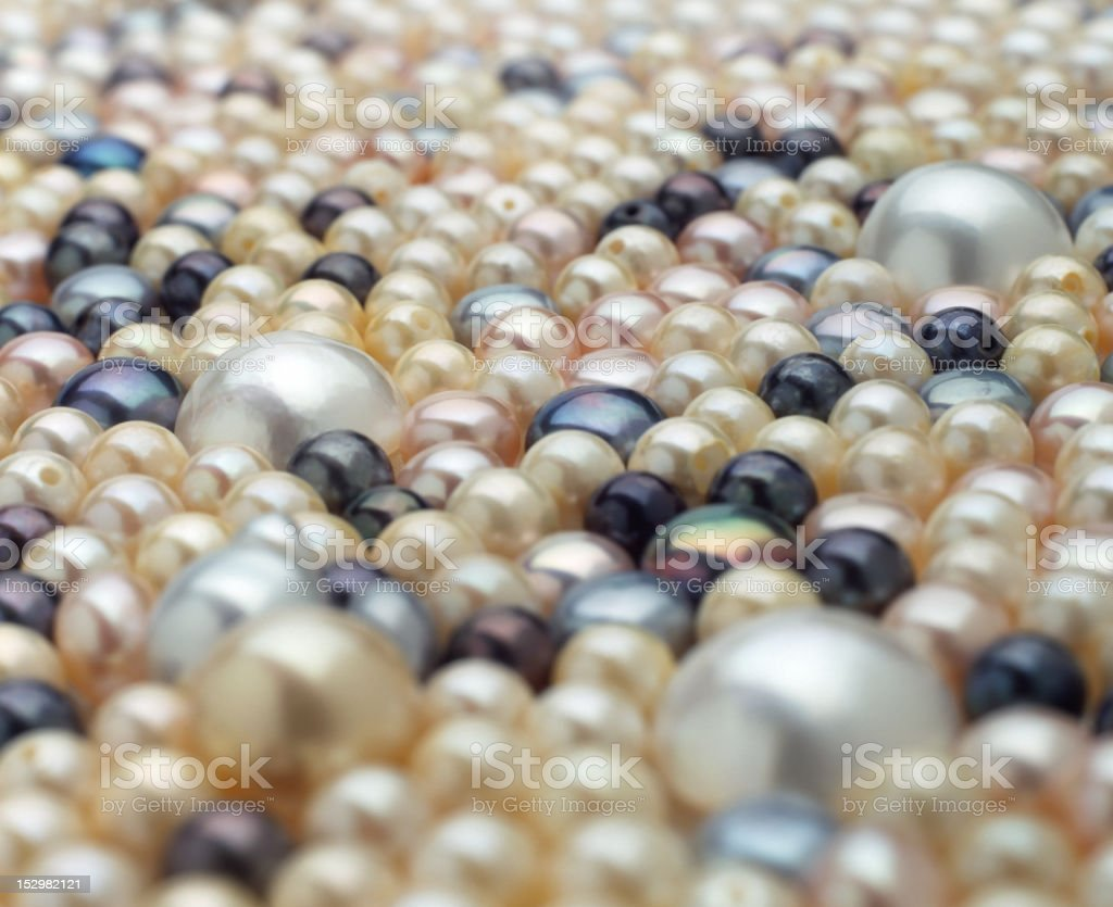 Close up of Pearls stock photo