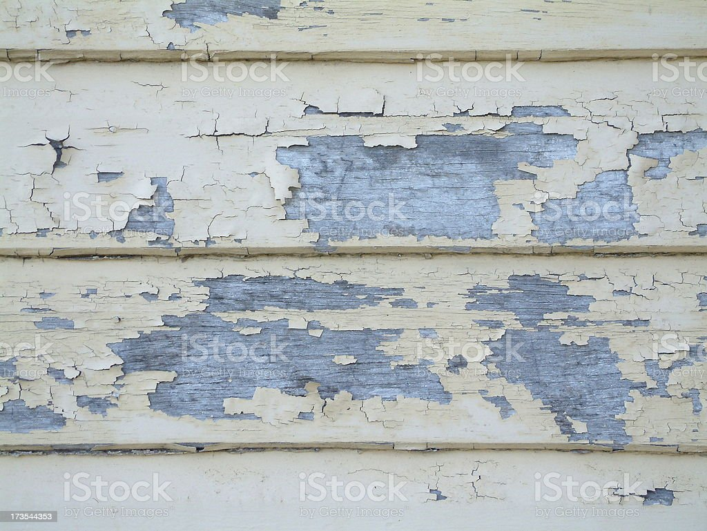 close up of peeling paint 1 royalty-free stock photo