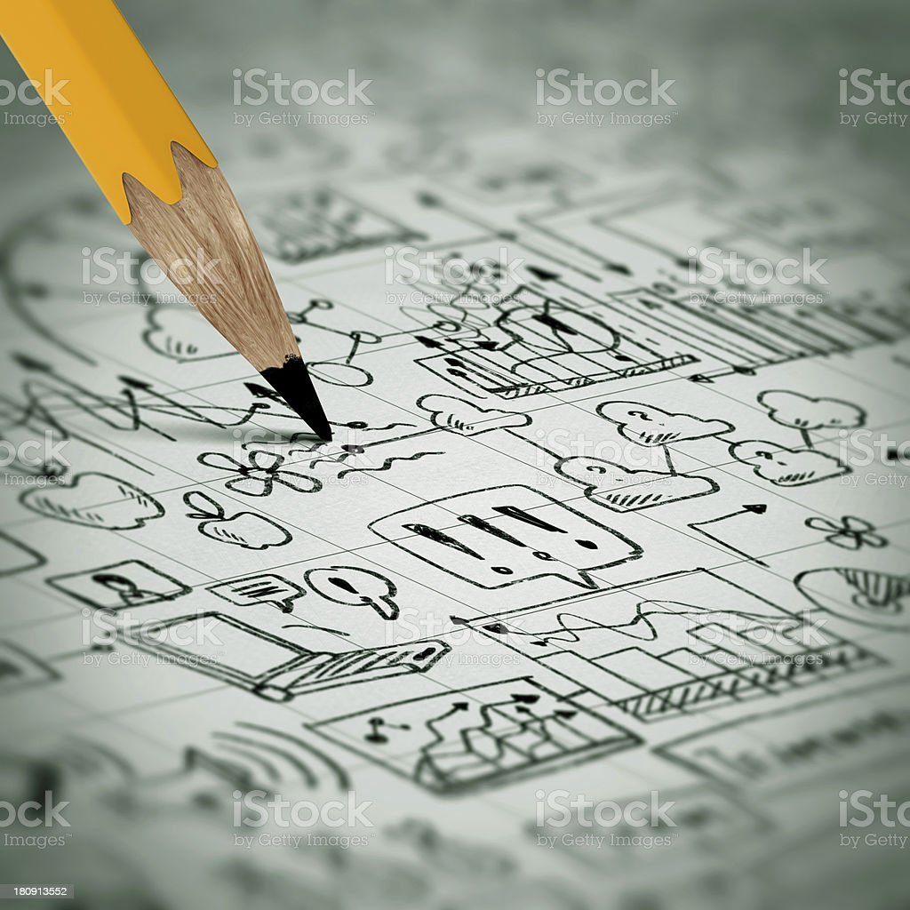 Close up of pencil royalty-free stock photo