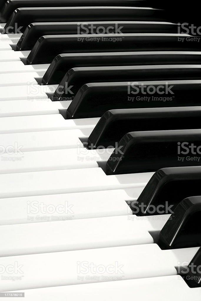Close up of Piano Keyboard royalty-free stock photo