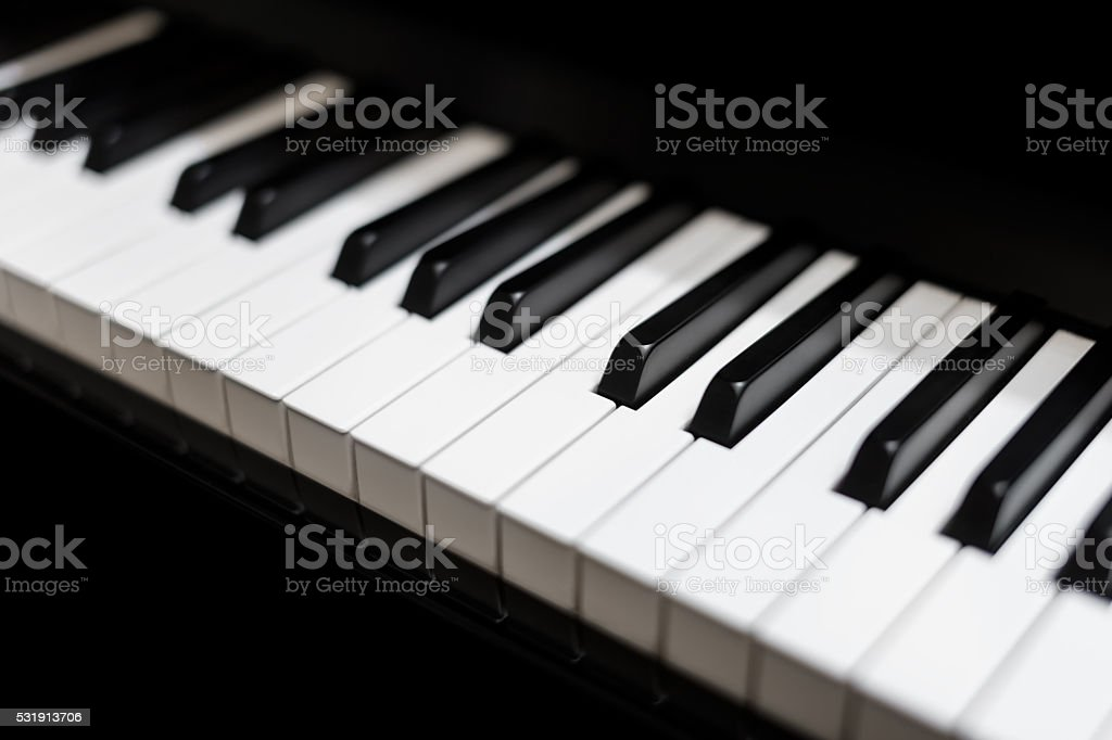 Close up of piano keyboard stock photo
