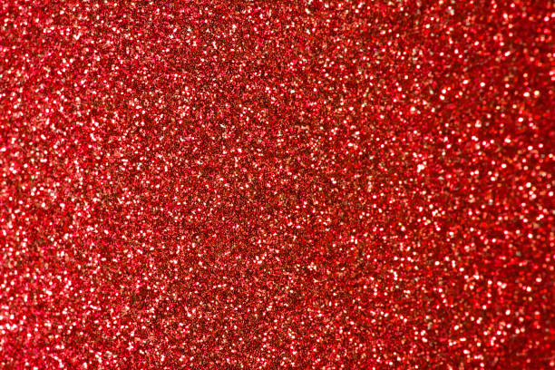 Close Up of Pink Red Glitter with Bokeh For Background stock photo