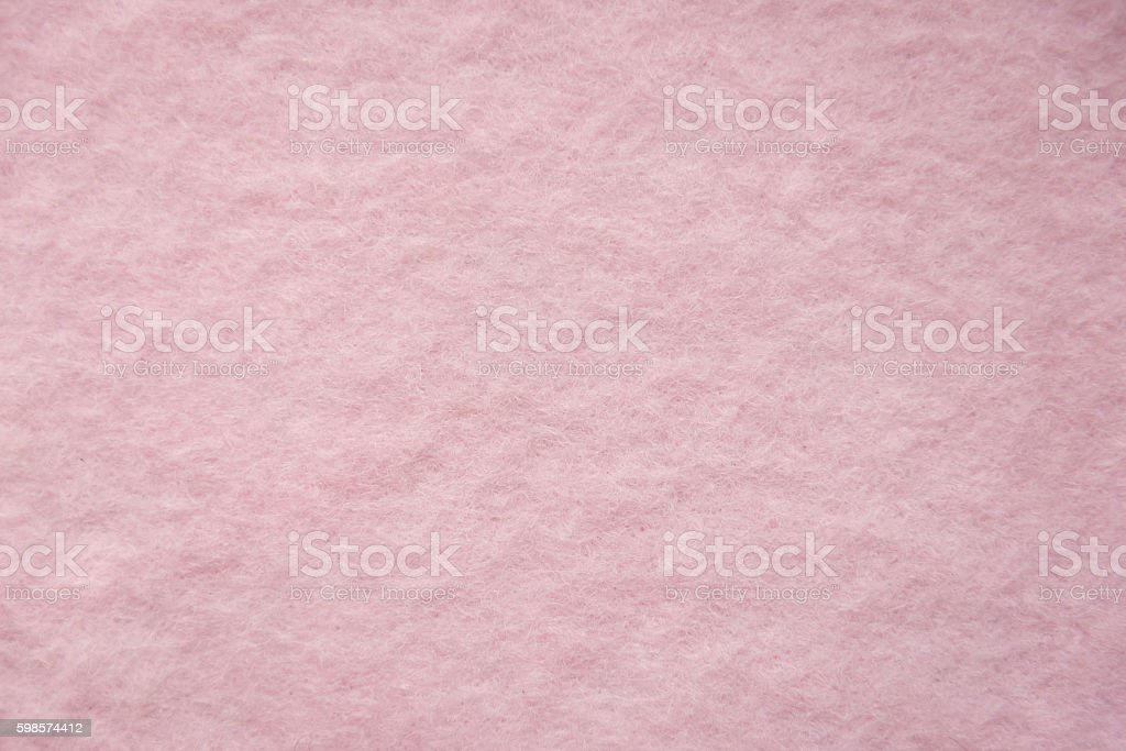 Close up of pink wool fluffy texture stock photo