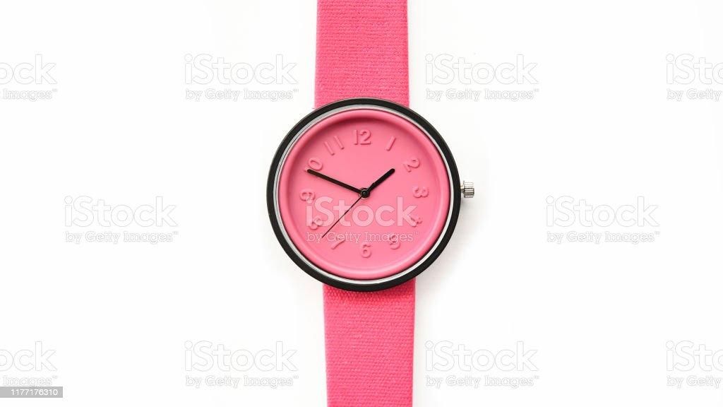 close up of pink wrist watches - Zbiór zdjęć royalty-free (Akcesorium osobiste)