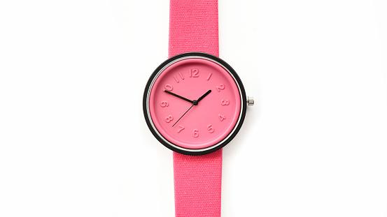 Close Up Of Pink Wrist Watches - zdjęcia stockowe i więcej obrazów Akcesorium osobiste