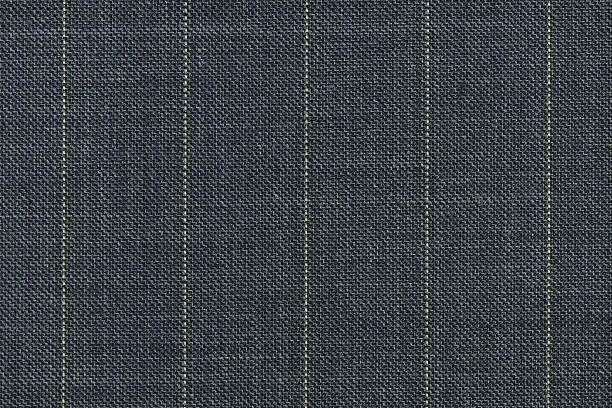 Close up of pinstriped fabric texture background. stock photo