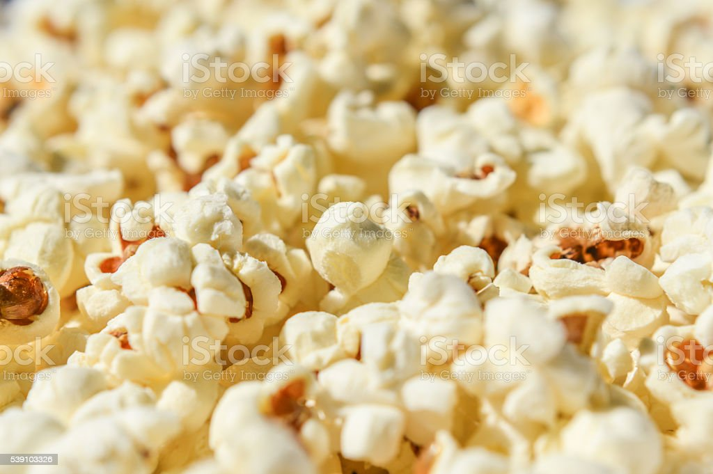 close up of popcorn stock photo