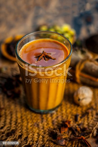 Close up of popular Indian/Asian drink