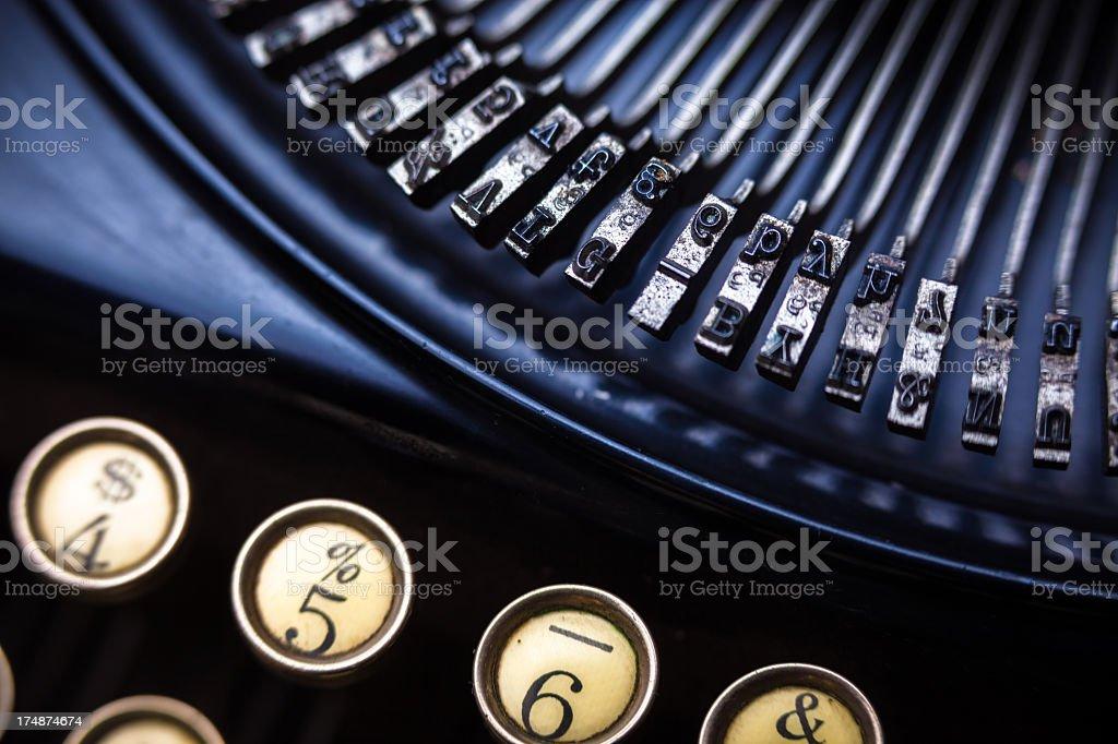 Close Up of Portable Typewriter royalty-free stock photo