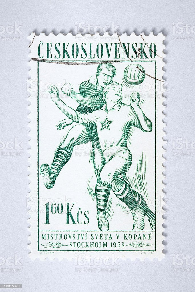 Close up of post stamp royalty-free stock photo