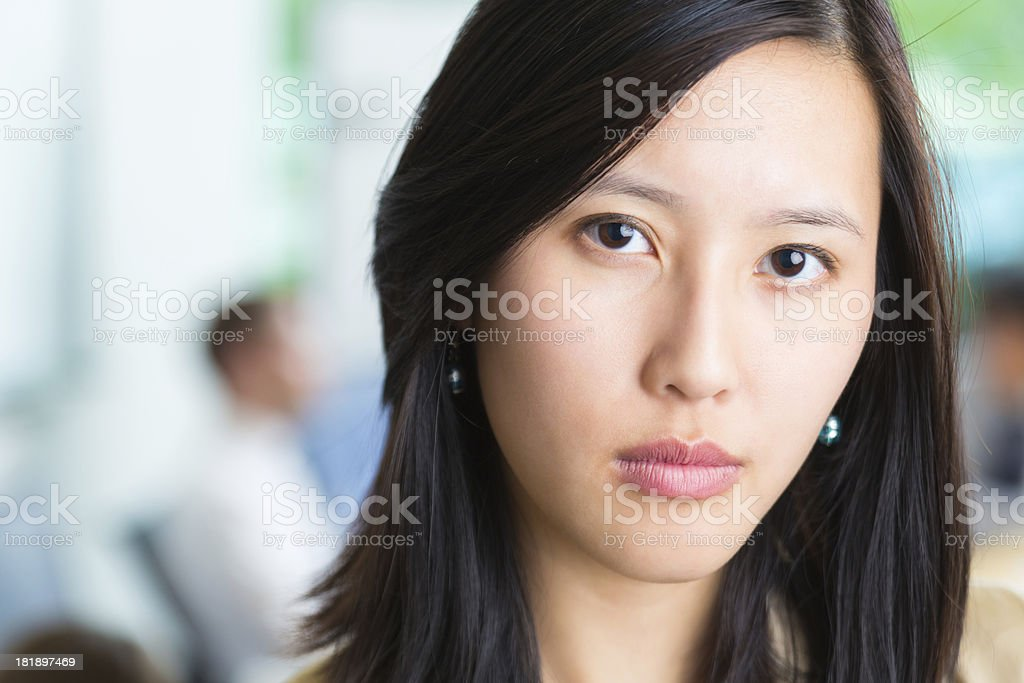 Close up of professional young Asian businesswoman in meeting royalty-free stock photo