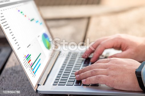 istock Close up of project management dashboard on screen laptop / computer 1028564786
