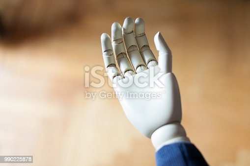 istock close up of prosthetic arm 990225878