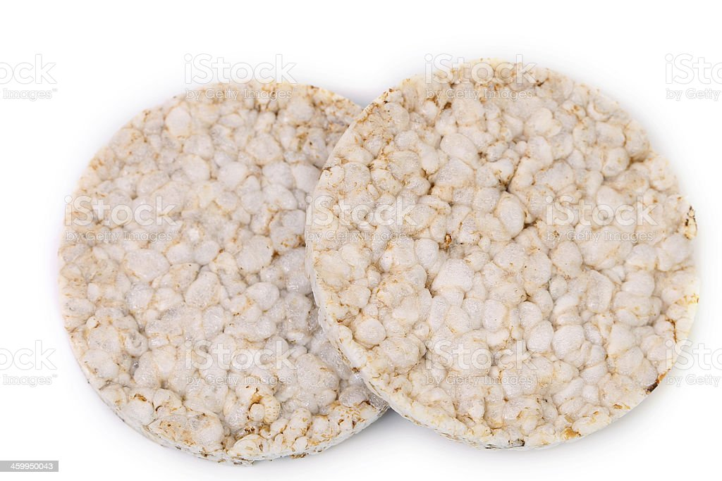 Close up of puffed rice snack. stock photo
