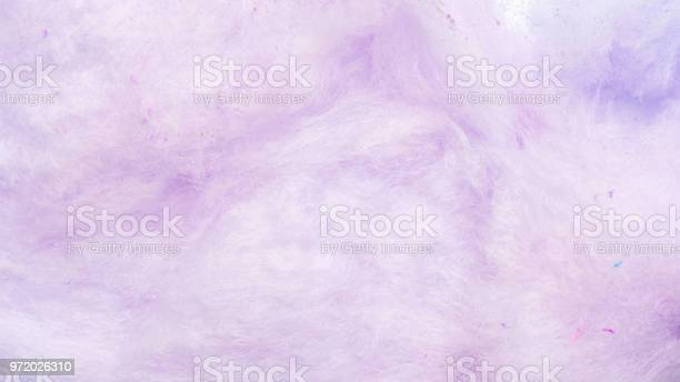 Photo of Close up of purple cotton candy for a background.