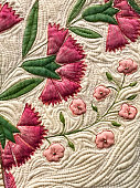 close up of quilted pinks (Dianthus)