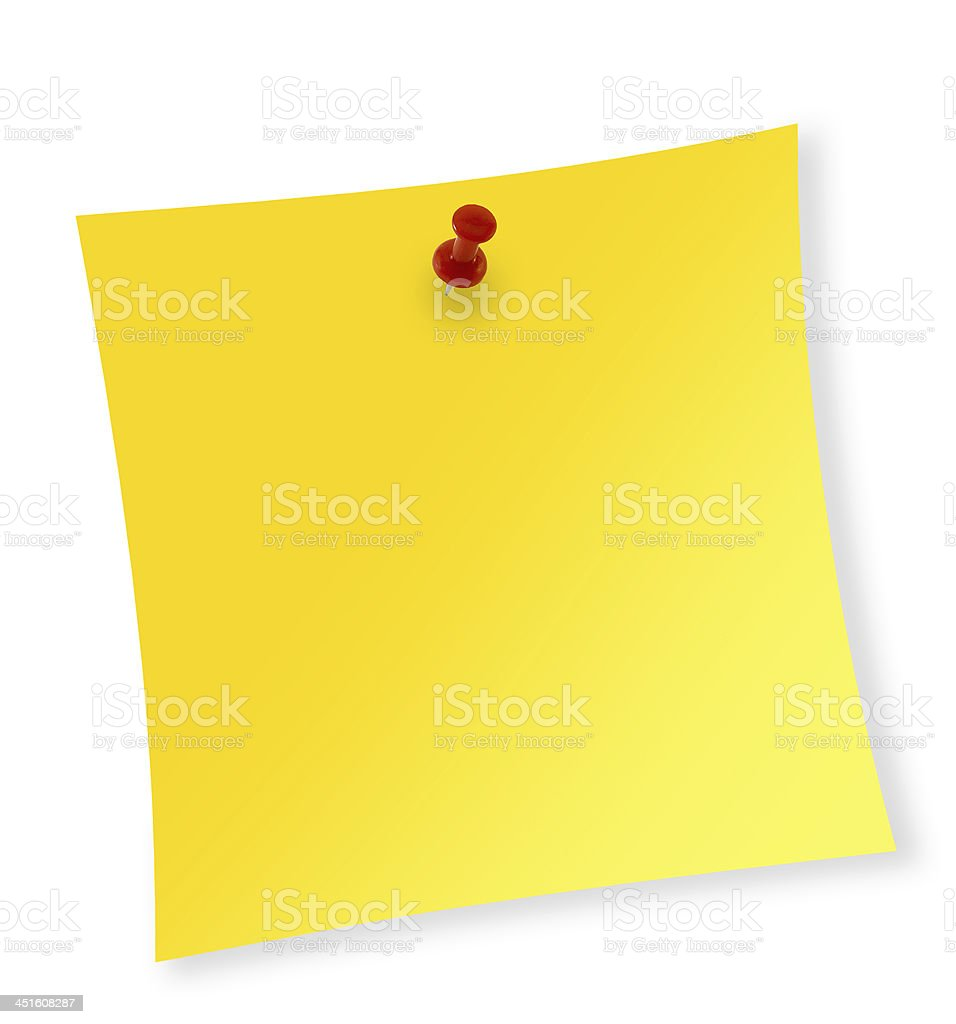 Close up of reminder on white background with clipping path royalty-free stock photo