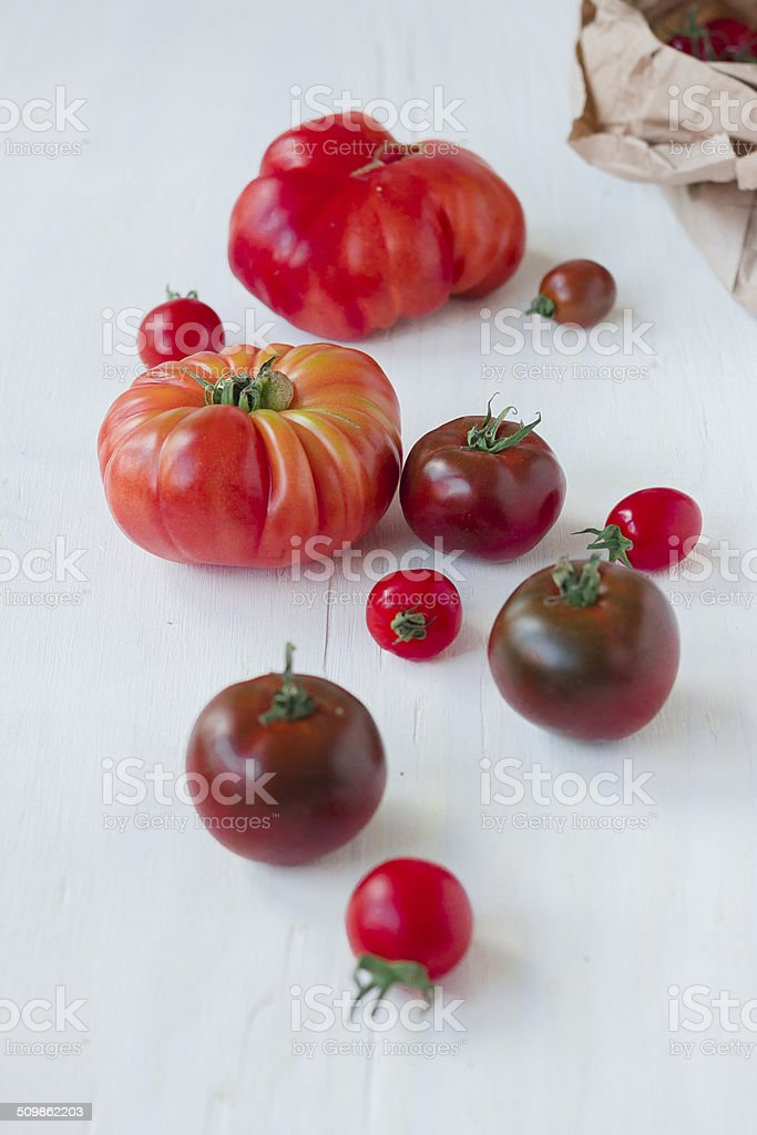 Close up of ripe tomatoes stock photo