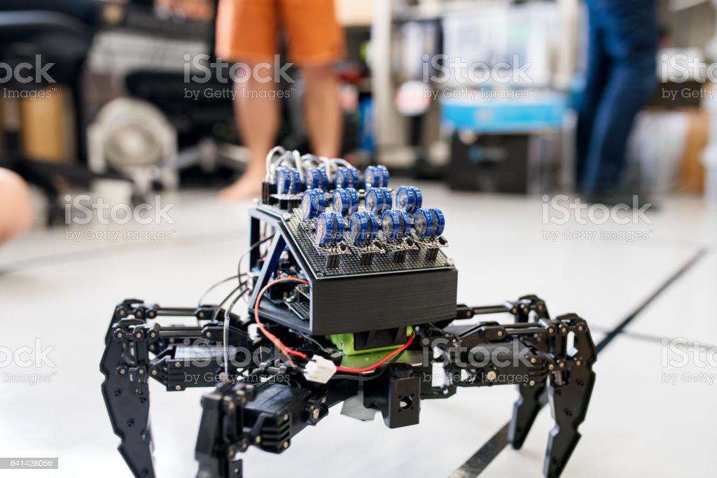 Close up of robot stock photo