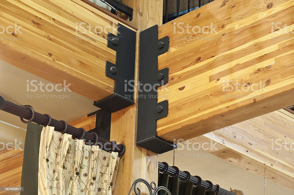Close up of roof beams stock photo