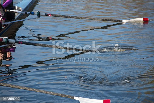 istock close up of rowing oars in water 942355220