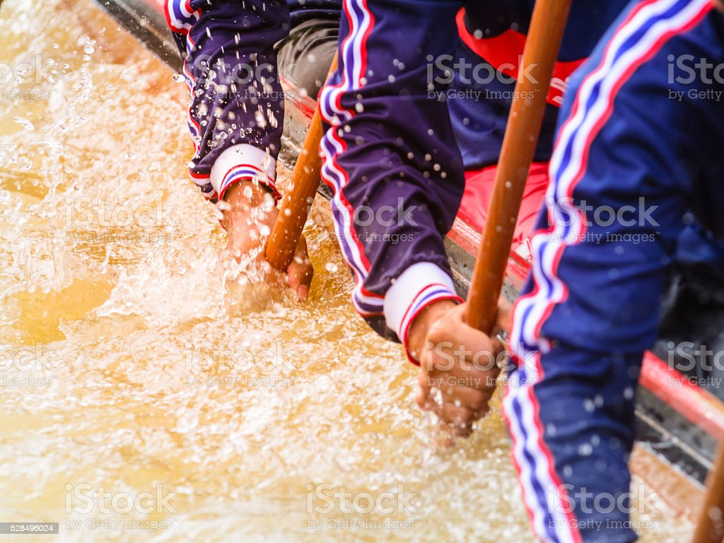 Nahaufnahme einer Ruderteam Rennen – Foto