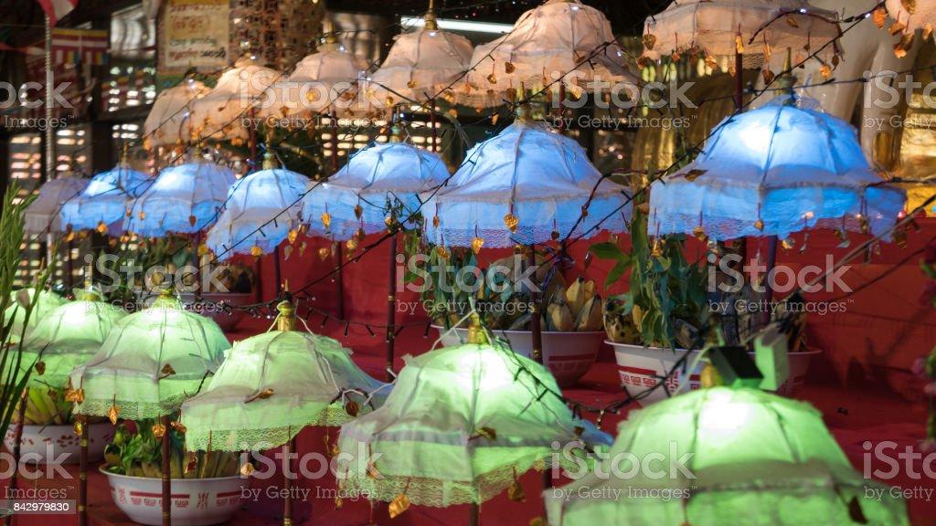 5e3bf8a3056 Close Up of Rows of Colorful Umbrellas inside Soon U Pon Nya Shin Paya