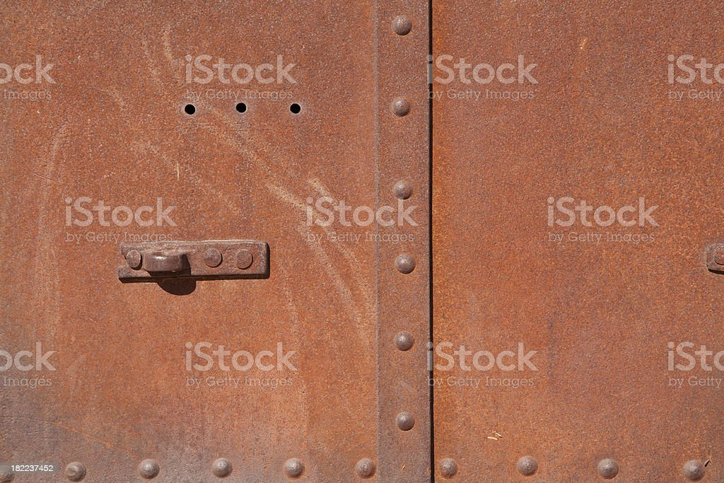 Close Up of Rusted Agricultural Vehicle, Background royalty-free stock photo