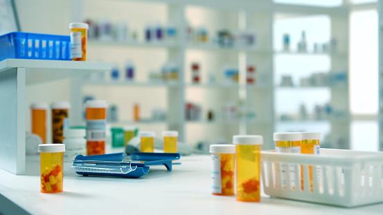Close up of RX prescriptions.