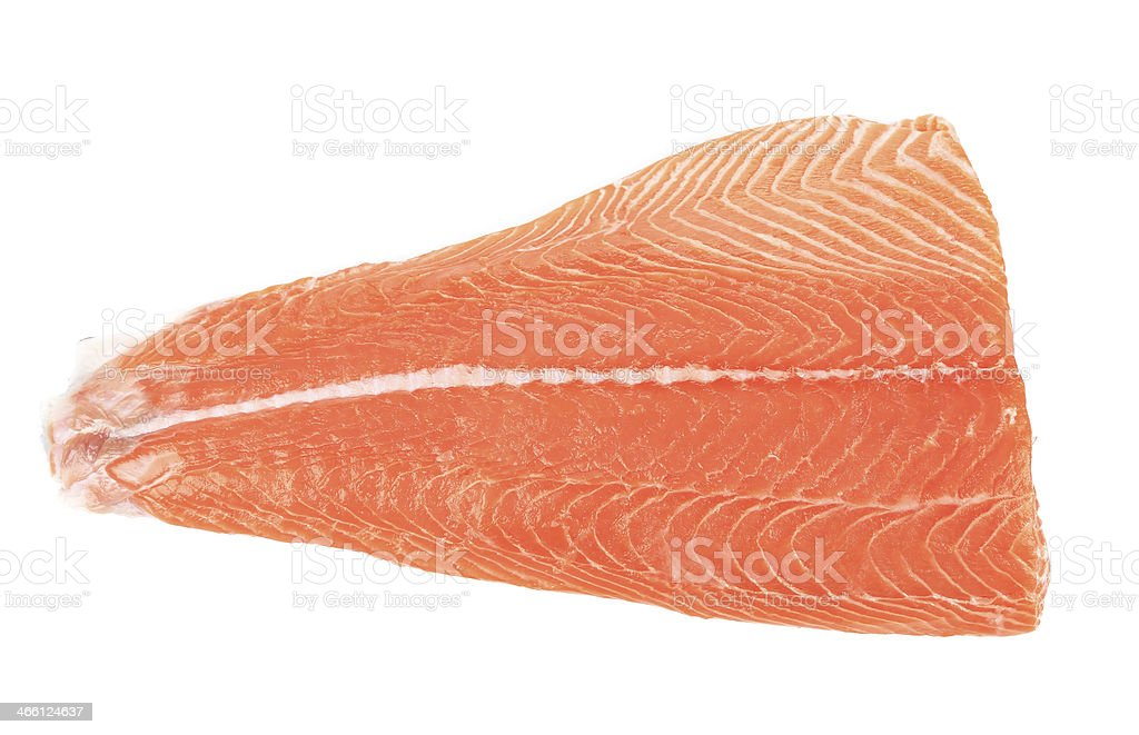 Close up of salmon fillet. stock photo