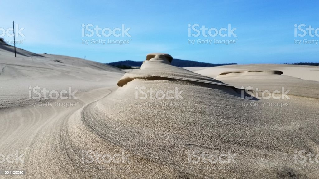 Close up of sand formation in sand dune foto stock royalty-free