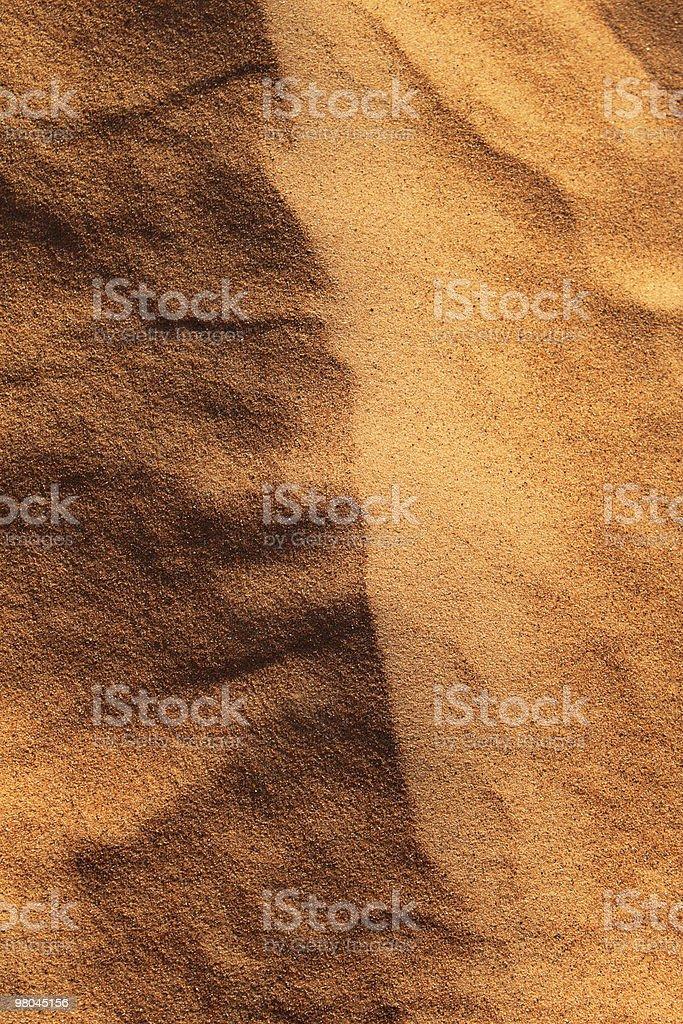 Close-up di texture della sabbia foto stock royalty-free