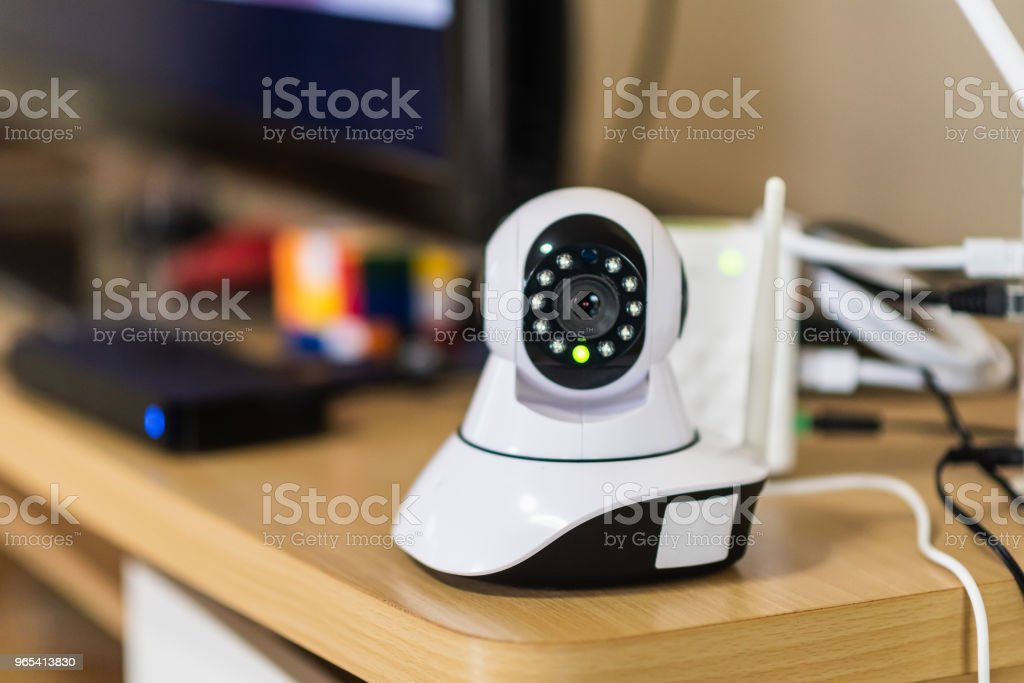 close up of security camera on the table royalty-free stock photo