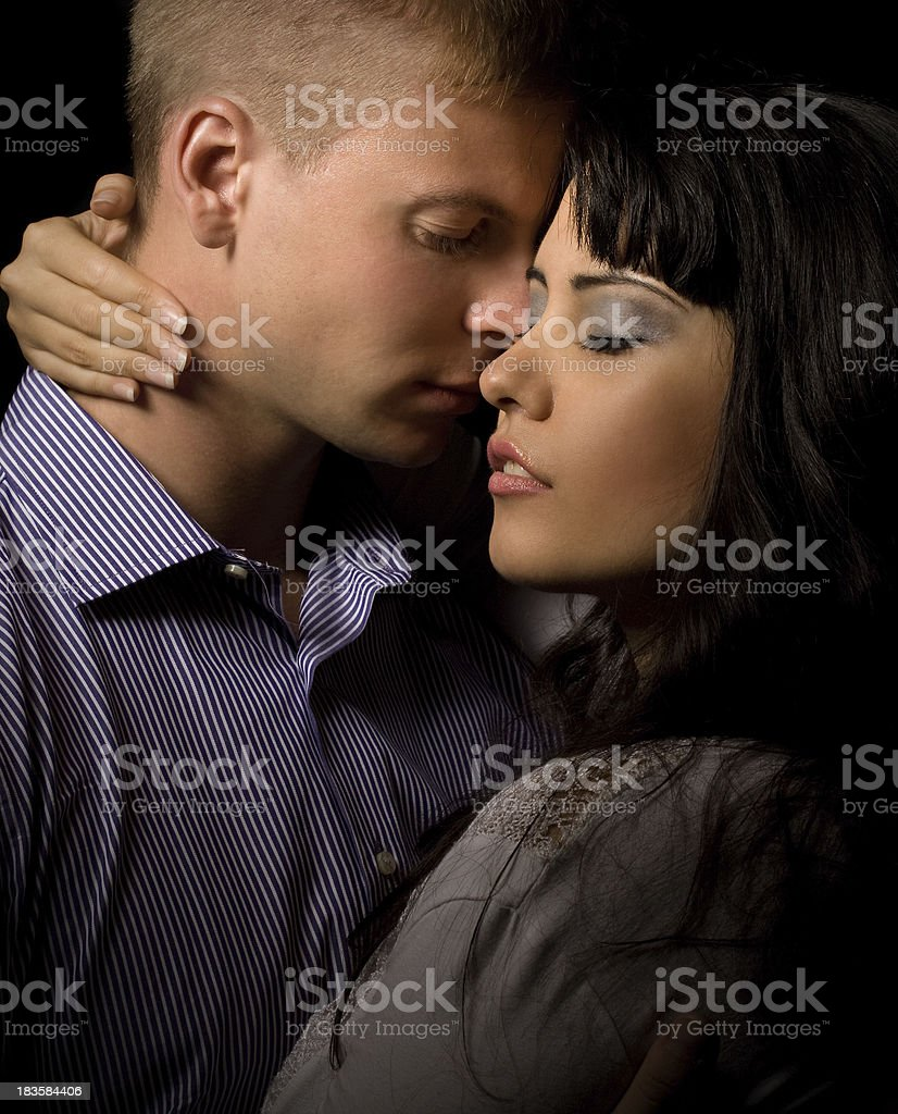 close up of sensual couple royalty-free stock photo