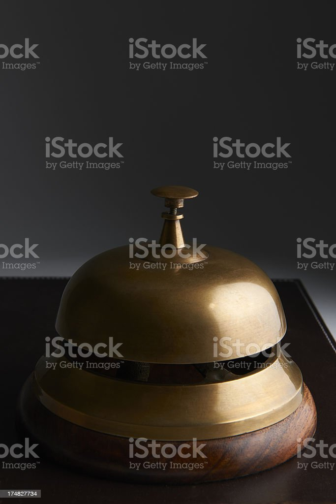 Close Up Of Service Bell On Dark Background royalty-free stock photo