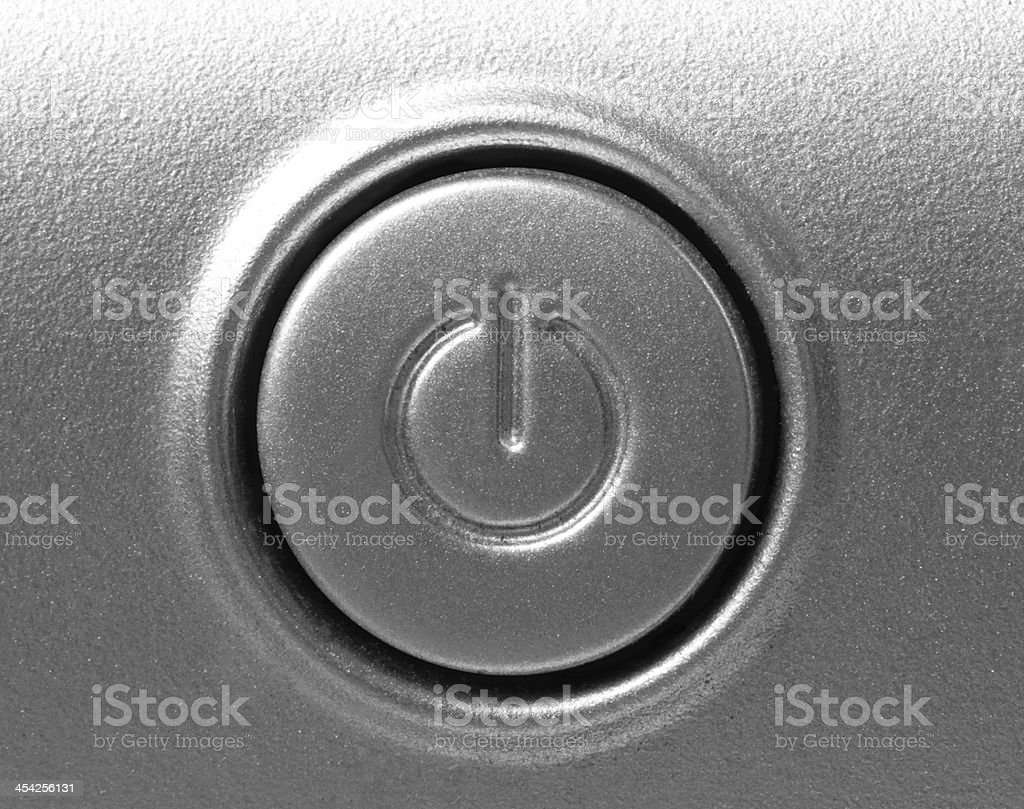 Close up of shutdown button stock photo