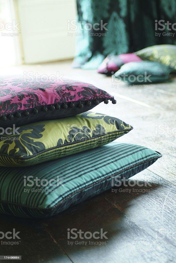 Close up of silk cushion royalty-free stock photo