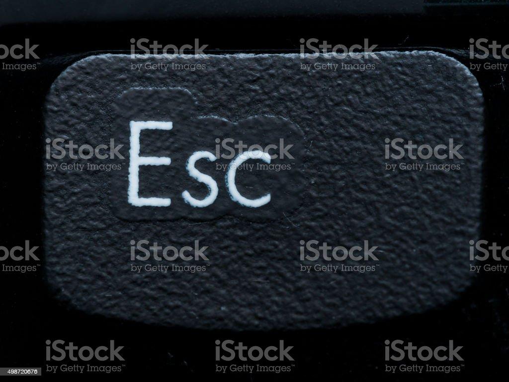 Close up of Single Escape Key stock photo